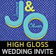 High Gloss Colors Wedding Invitation - GraphicRiver Item for Sale