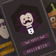 Halloween Cards - Hipster Series - GraphicRiver Item for Sale
