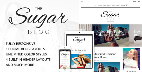 Sugar - Clean & Personal WordPress Blog Theme