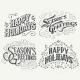 Happy Holidays Hand Drawn Typographic Headlines - GraphicRiver Item for Sale
