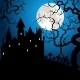 Halloween Card with Castle - GraphicRiver Item for Sale