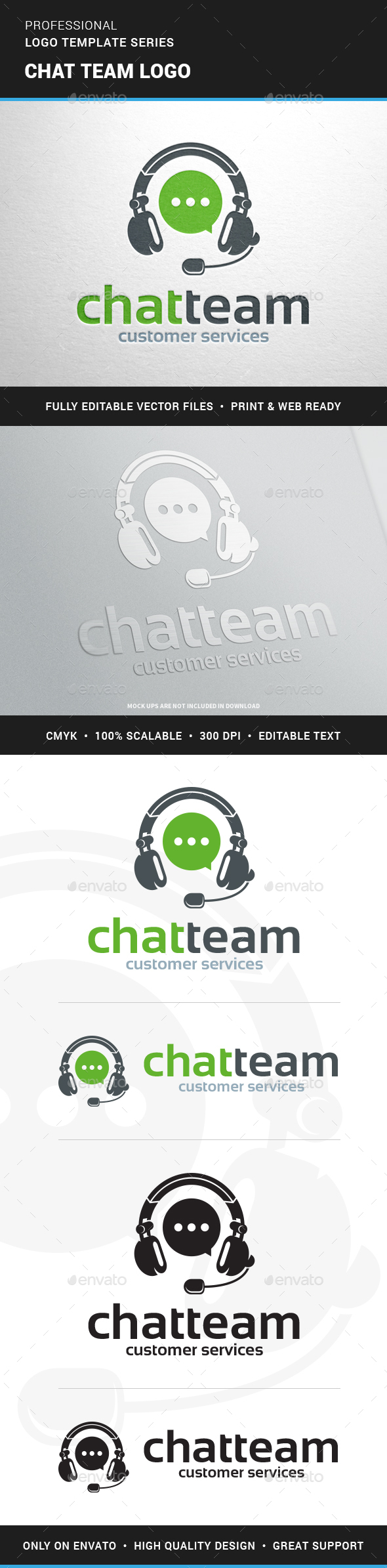 Chat Team Logo Template