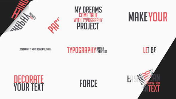 Download VIDEOHIVE TYPOGRAPHY PACKAGE - LOWER THIRDS AND TITLES ...