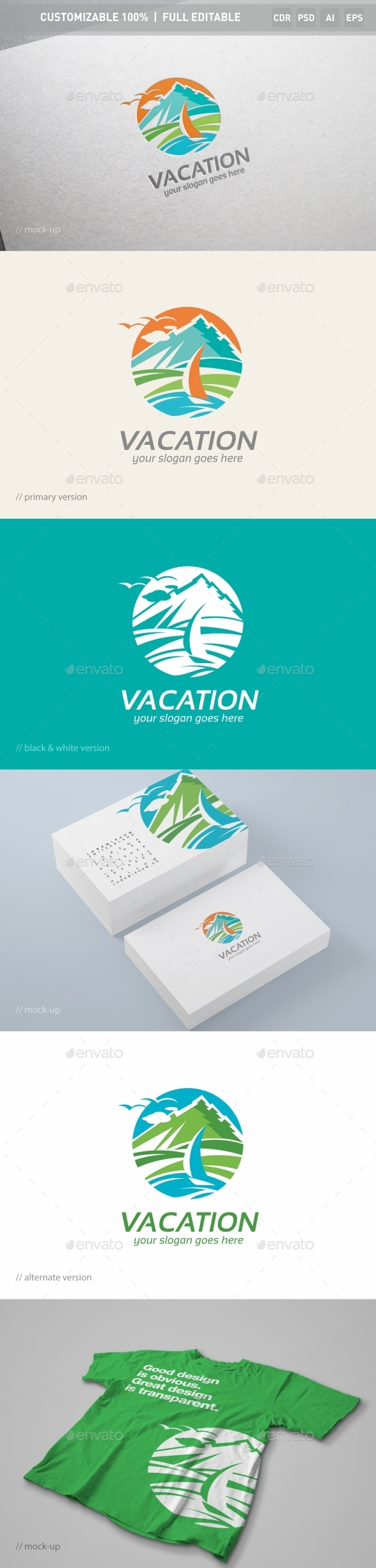 Vacation Logo Template