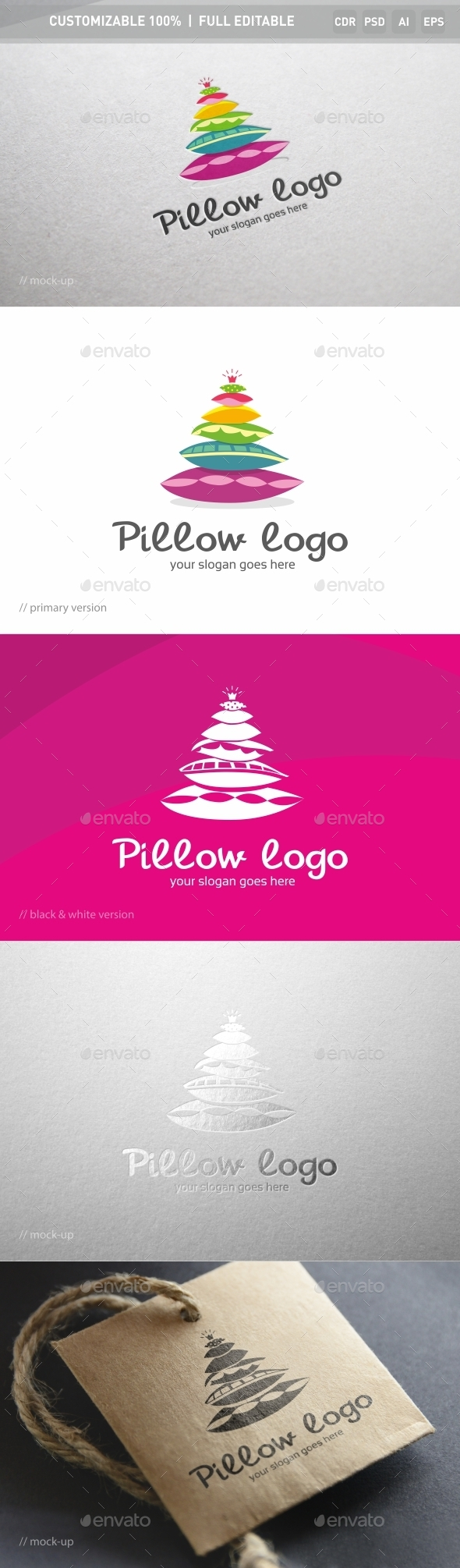Pillow Logo Template