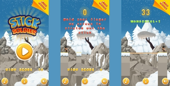 Stick Soldier - HTML5 Mobile Game (Construct 3 | Construct 2 | Capx) Download