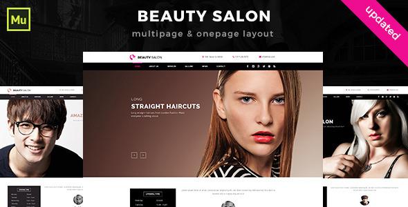 Beauty Salon Muse Template