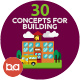 Flat Concepts for Building & Construction - GraphicRiver Item for Sale