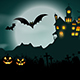 Halloween Haunted House Background - GraphicRiver Item for Sale