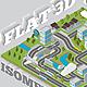 Flat 3D Isomatric Map Builder Elements Kit - GraphicRiver Item for Sale