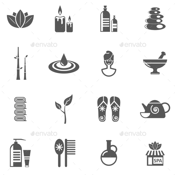 Spa And Relax Icons Set