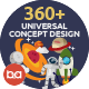 Universal Concept Flat Design - GraphicRiver Item for Sale