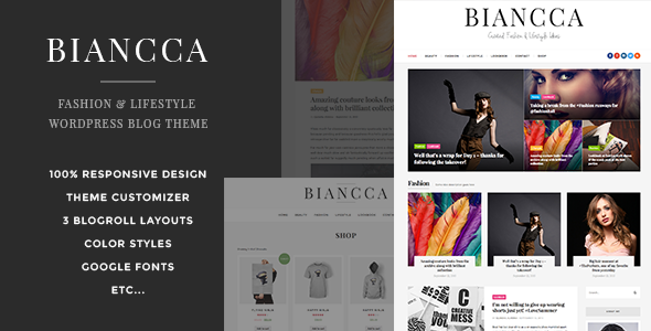 Biancca - Fashion & Lifestyle WordPress Blog Theme