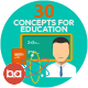 Flat Concepts for Education & Science - GraphicRiver Item for Sale