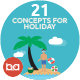 Flat Concepts for Holiday & Recreations - GraphicRiver Item for Sale