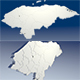 Honduras Map - 3DOcean Item for Sale