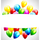 Multicolor Inflatable Balloons with Frame on Gray - GraphicRiver Item for Sale