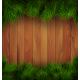 Christmas Tree Pine Branches on Wooden Background - GraphicRiver Item for Sale