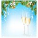 Sparkling Wine Jingle Bells and Pine Branches - GraphicRiver Item for Sale