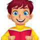 Boy Reading a Book - GraphicRiver Item for Sale