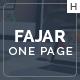 Fajar One Page Multi-Purpose Design - ThemeForest Item for Sale