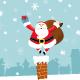 Santa On Chimney - GraphicRiver Item for Sale