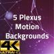 5 Plexus motion backgrounds - VideoHive Item for Sale