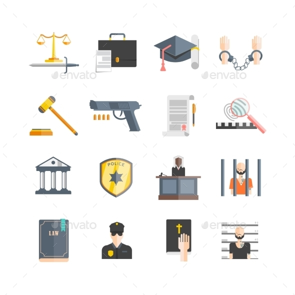 Justice Icons Set