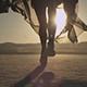 Girl Walking In The Desert 05 - VideoHive Item for Sale