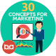 Flat Concepts for Marketing & Management - GraphicRiver Item for Sale