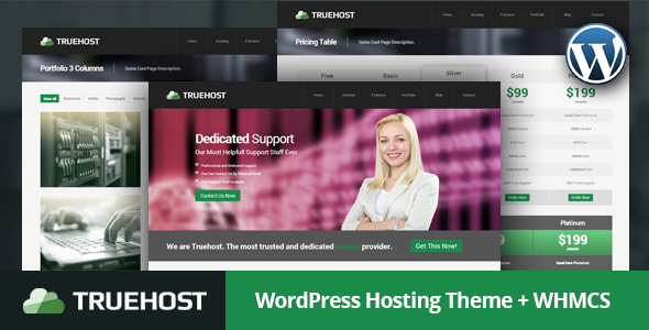 Truehost - Responsive Hosting WordPress Theme