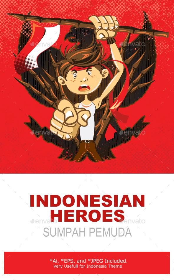 Indonesian National Heroes Patriot Warrior