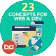 Flat Concepts for Web & Development - GraphicRiver Item for Sale
