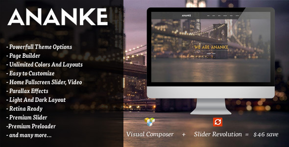 Ananke - One Page Parallax WordPress Theme Download