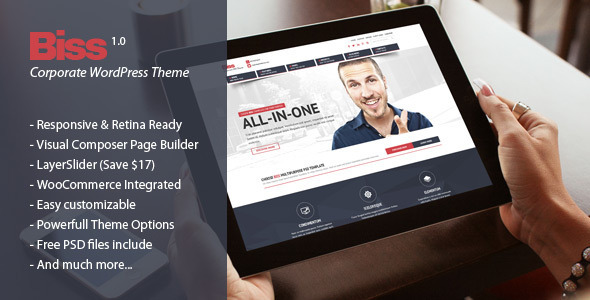 Biss - Corporate Multipurpose WordPress Theme