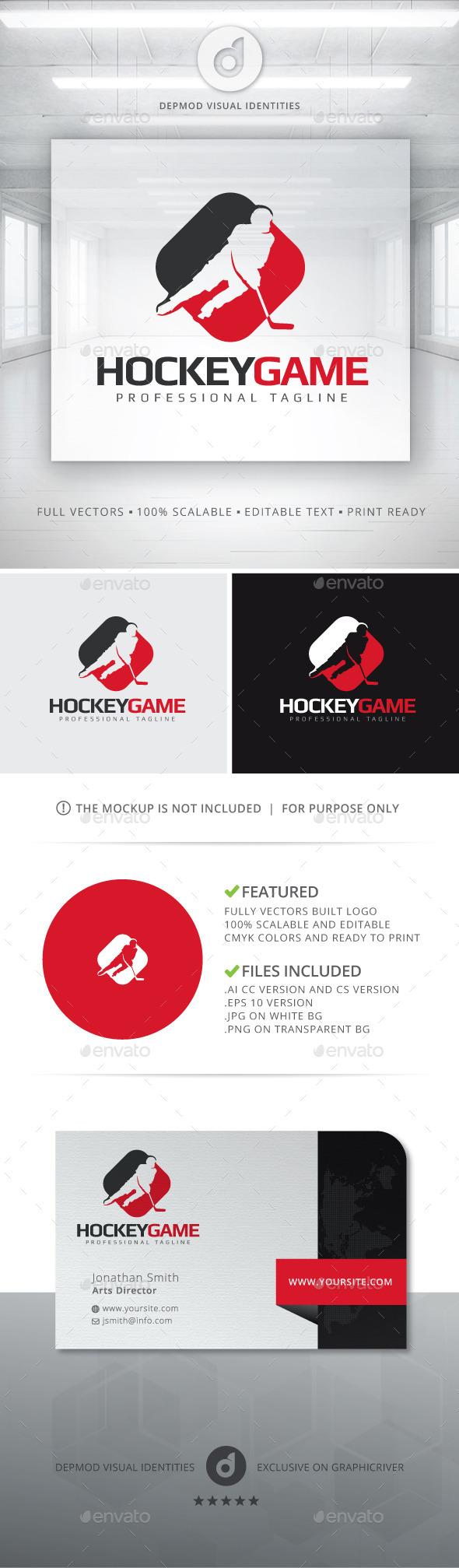 Hockey Game Logo