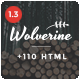 Wolverine - Multipurpose HTML5 Template - ThemeForest Item for Sale