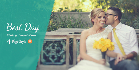 Best Day - Responsive OnePage Wedding Drupal Theme 1