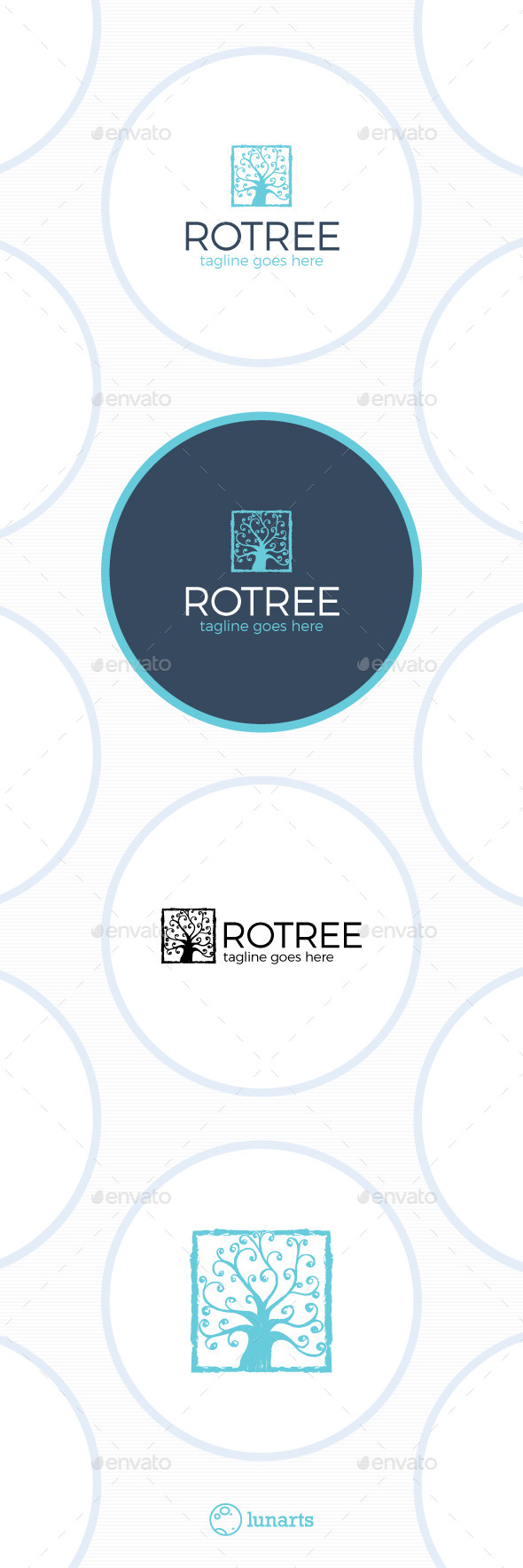 Royal Tree Logo - Luxury Square