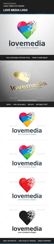 Love Media Logo Template