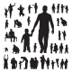 Children and Parents Silhouettes Set - GraphicRiver Item for Sale