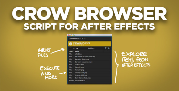 Crow Browser | After Effects Script