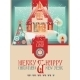 Vintage Christmas Banner With Eve Cityscape  - GraphicRiver Item for Sale