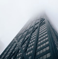 Looking up Modern Buildings in Foggy days in Chicago - PhotoDune Item for Sale