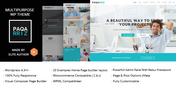 Paqarriz - Multipurpose WordPress Theme
