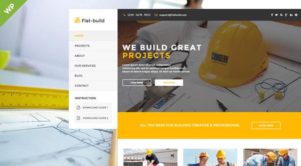Flatbuild – Construction Business WordPress Theme