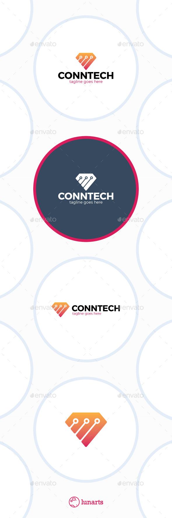 Diamond Tech Logo - Connect Line