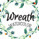 Watercolor Wreaths of Leaves - GraphicRiver Item for Sale