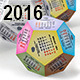 Calendar 2016 - Dodecahedron - GraphicRiver Item for Sale