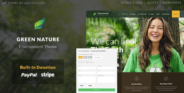 Green Nature - Environmental / Nonprofit WordPress